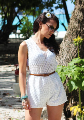 Playa Beach Dress White
