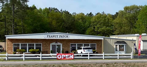 Peanut Patch Gift Shoppe view from road (Hwy. 58) in Courtland, VA.