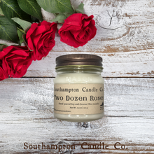 Load image into Gallery viewer, 'Two Dozen Roses' in 8 oz. Rustic Mason Jar
