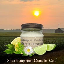Load image into Gallery viewer, 'Citrus Sunrise™' in 8 oz. Rustic Mason Jar