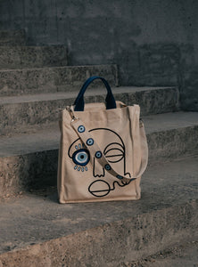 NO EVIL ALLOWED CANVAS TOTE BAG