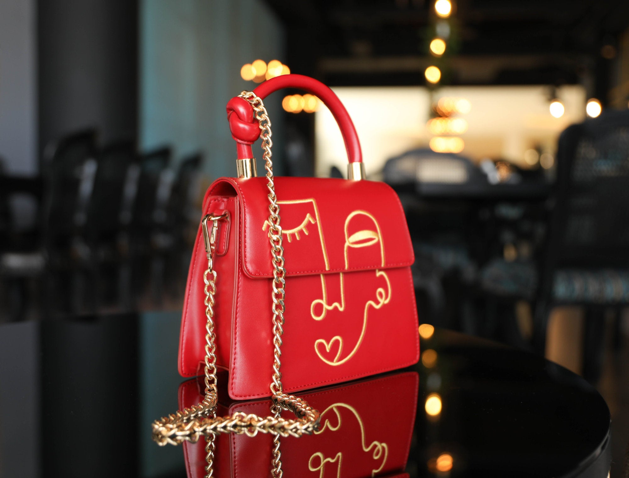Aurora Red Lilo Handbag