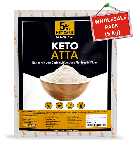 NutroActive Keto Atta (1g Net Carb Per Roti ) Extremely Low Carb Flour - 5kg