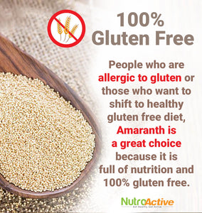 Amaranth Whole Natural Grains (Rajgira), Gluten Free 340 gm (Pack of 2)
