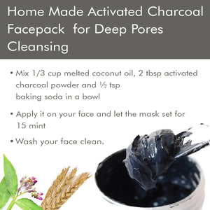 Activated Charcoal Powder for Face Pack 100 gm (Pack Of 2)