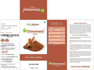 Cinnamon Powder (Dalchini Powder) 100 gm- Pack of 2