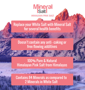 Mineralsalt Low Sodium Himalayan Pink Salt Extra Fine Grain, 0-0.5mm - 200g