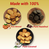 Low Carb Cookies | Chewy & Gluten Free | Combo Pack(Almond, Coconut & Hazelnut) | 250 gm Each | Gift Pack