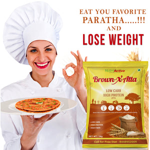 BrownXatta Atta | High Protein & Amp | Low Carb Keto Friendly Flour | 1Kg