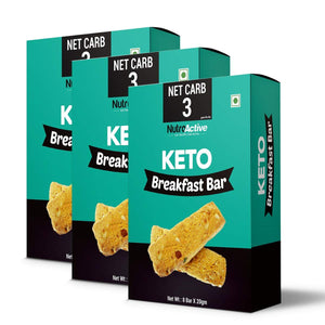 Keto Breakfast Bar | Zero Sugar and Gluten Free(Pack of three) - 180gm