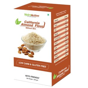 California Almond Flour | Without Skin (blanched)  Badam Powder | 200g