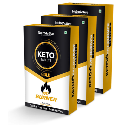 Keto Tablets Fat Burner | Weight Loss Tablets | Keto Diet (Pack of Three) - 30 Tablets