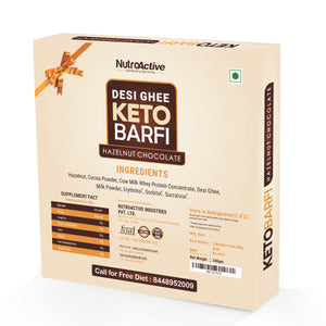 Keto Chocolate Hazelnut Barfi (Ultra Low Carb Dessert) Gift Pack (Pack of three) - 200g