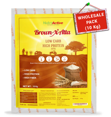 BrownXatta Atta | High Protein & Amp | Low Carb Keto Friendly Flour | - 10Kg