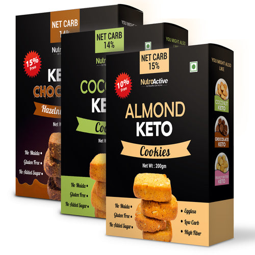 Keto Cookies Combo | Pack of 3 | Gift Pack | 250g Each