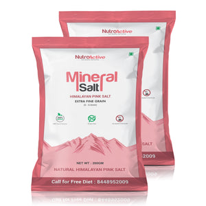 Mineral Salt Himalayan Pink Salt Extra Fine Grain (0-0.5mm) 200 gm- Pack Of 2