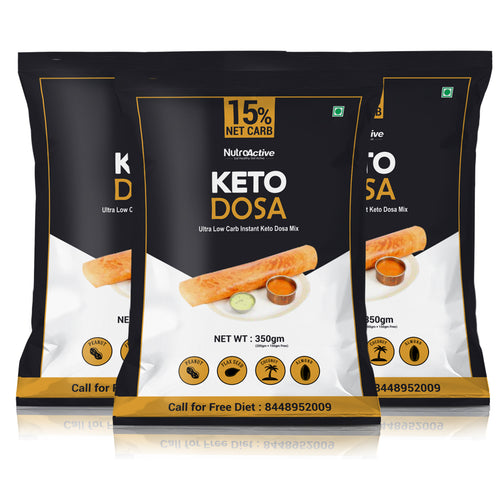 Keto Dosa Instant Dosa Mix | 350gm | Pack of 3