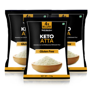 Keto Atta | Gluten Free and Low Carb | (Pack of three) - 1Kg