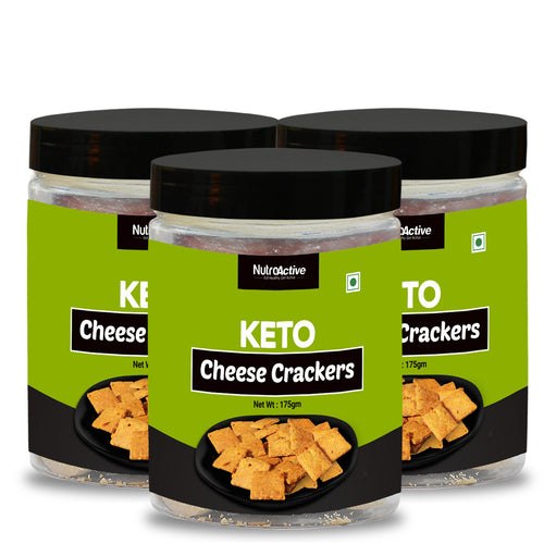 Keto Cheese Crackers Extremely Low Carb Snacks (Pack of Three) - 175g
