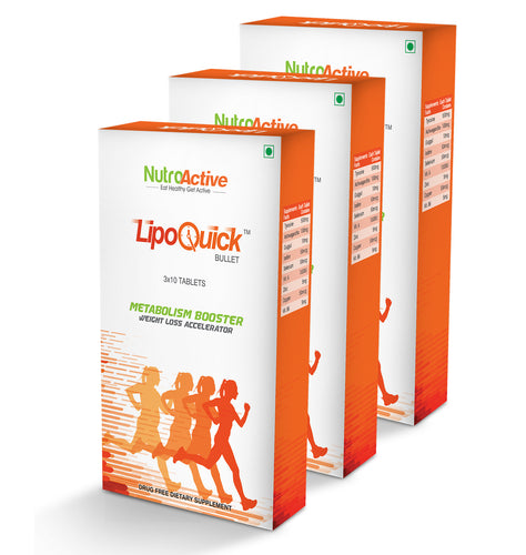Lipoquick Bullet Fat Burner (Pack of three) - 30 Tablets