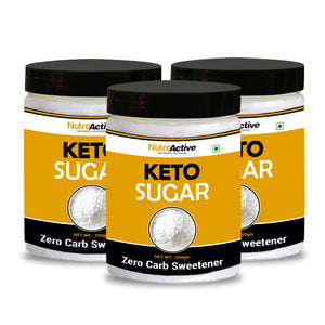 Keto Sugar Zero Carb Sweetener | (Pack of three) - 250g