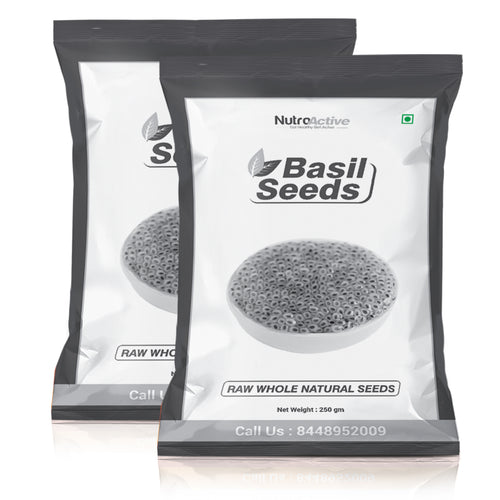 Basil Seeds, Tukmariya/ Sabja Seeds 250 gm (Pack of 2)