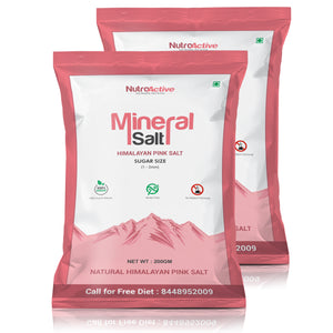 Mineral Salt Himalayan Pink Salt Sugar Size Grain (1-2mm) 200 gm- Pack Of 2