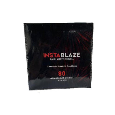 Insta Blaze Quick Light Charcoal For Shisha Hookah - (80 Pieces)