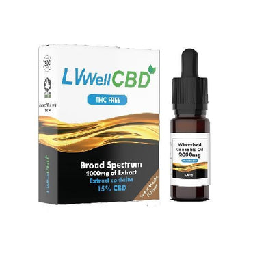 LVWell CBD 2000mg Winterised  10ml Hemp Seed Oil - CBD MEADOWS - LVWell CBD