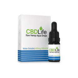 CBDLife 400mg CBD Raw Hemp Aqua Drops 10ml