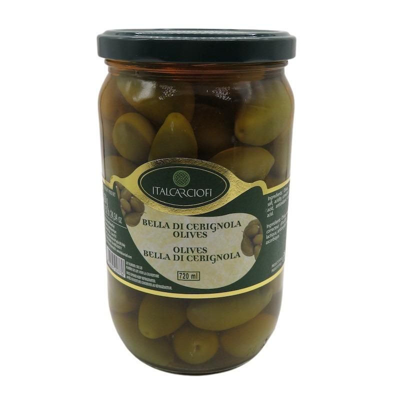 Italcarciofi Green Olives Bella Di Cerignola 720ml