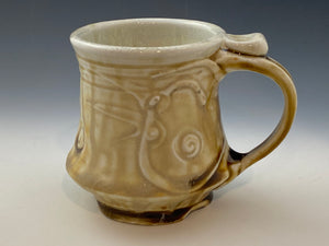 Slip and Stamp Decorated Mug