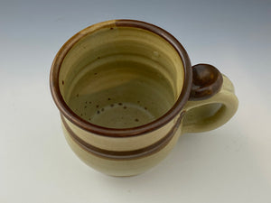 Tan and Brown Striped 10 oz. Mug