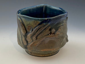 Blue Tea Dust Glazed Tea Bowl