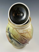 Load image into Gallery viewer, Abstract Decorated Lidded Jar