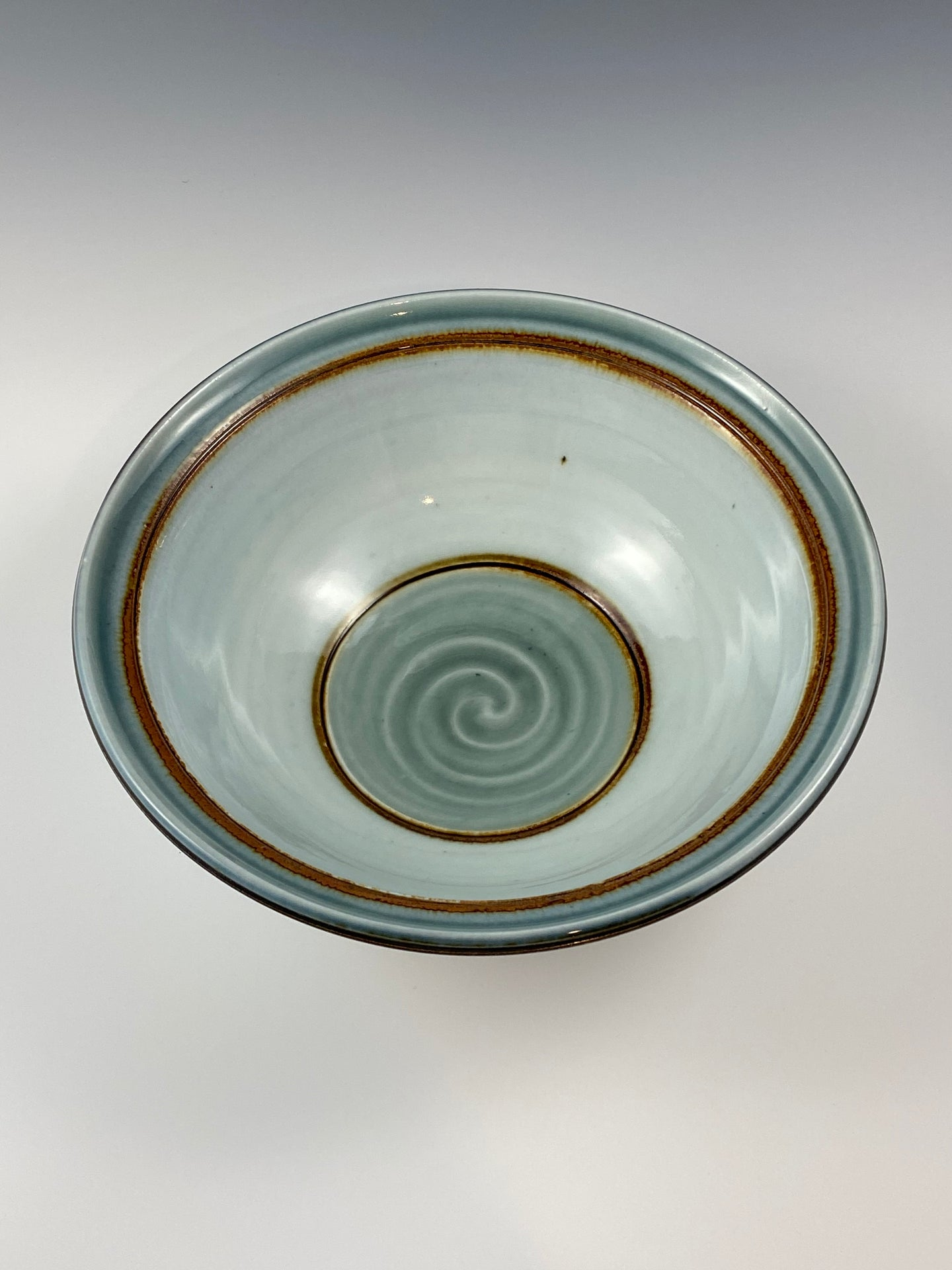 Soft Blue Iron Accented Bowl