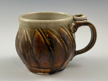 Load image into Gallery viewer, Sculpted Honey Amber Brown 10 oz. Mug
