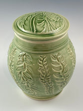 Load image into Gallery viewer, Botanical Textured Covered Jar