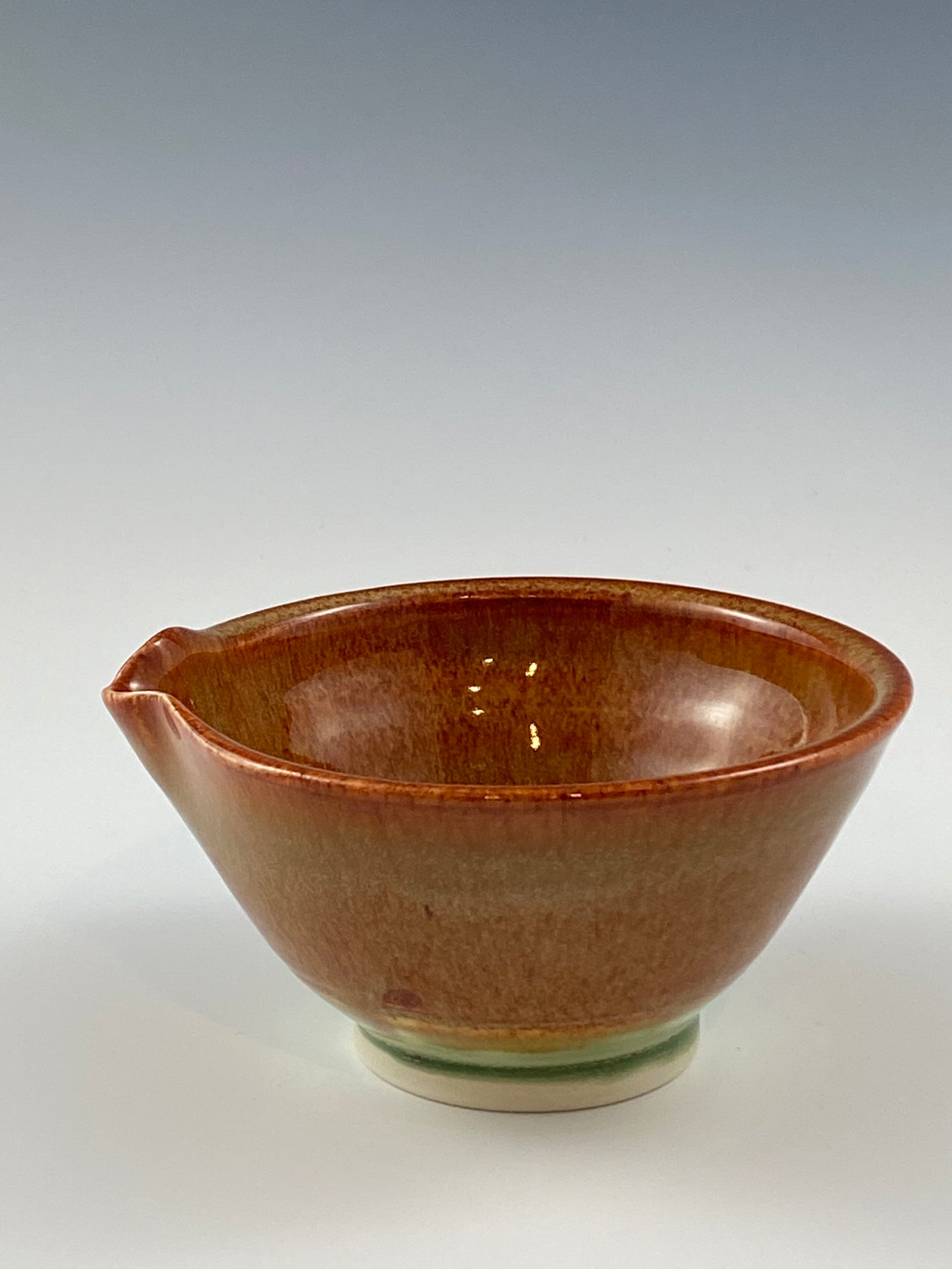 Small Nutmeg Brown Bowl with Pour Spout