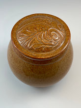 Load image into Gallery viewer, Nutmeg Brown Covered Jar