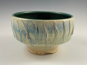 Matte Green Fluted Bowl