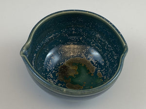 Small Blue Crystallized Bowl