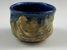 Load image into Gallery viewer, Cobalt Blue Lined Tea Bowl
