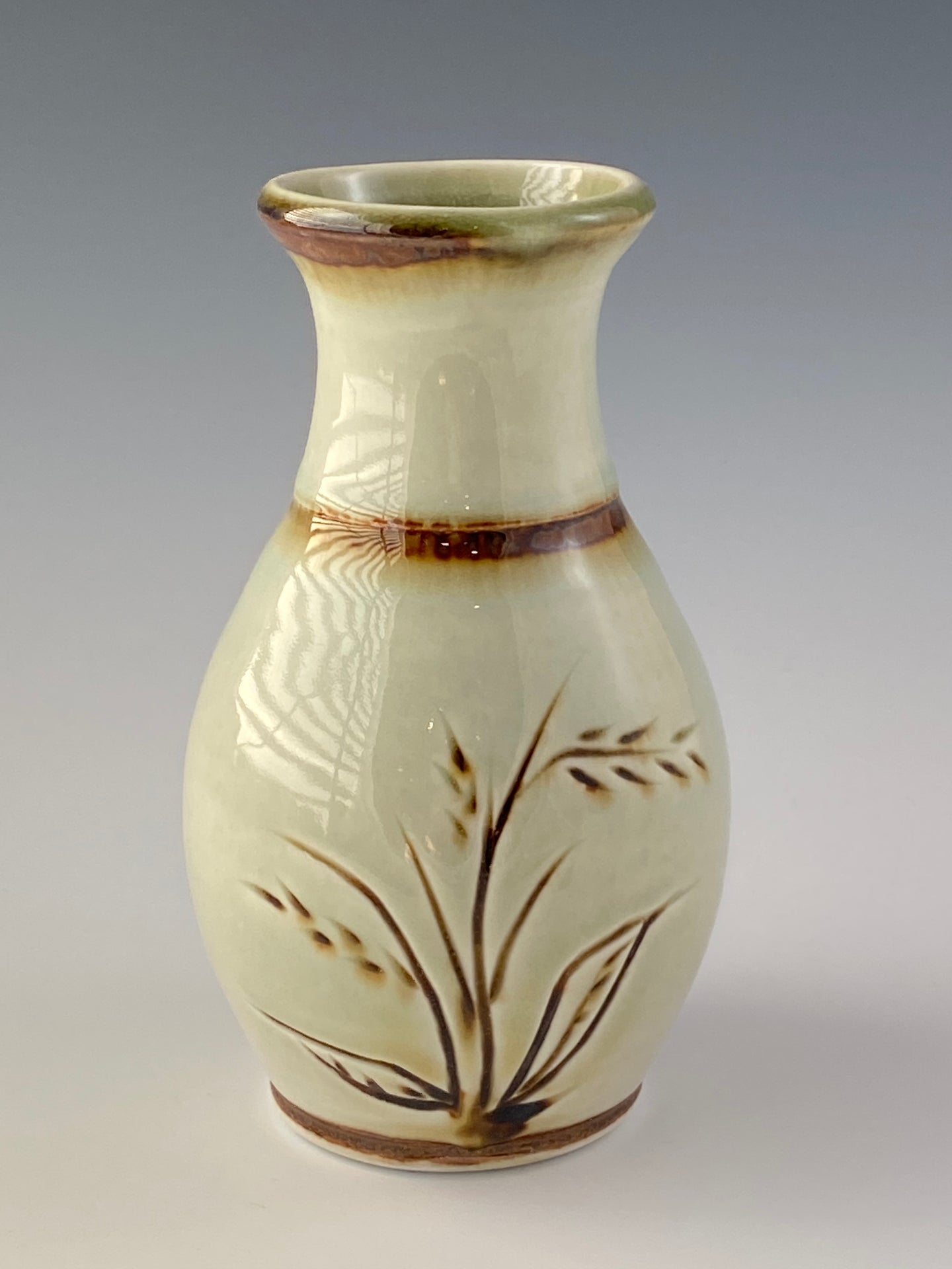 Carved Off-White Vase