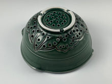 Load image into Gallery viewer, Green Glazed Colander
