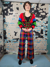 Load image into Gallery viewer, Bells + Whistles | Ellen Tracy Plaid Flares
