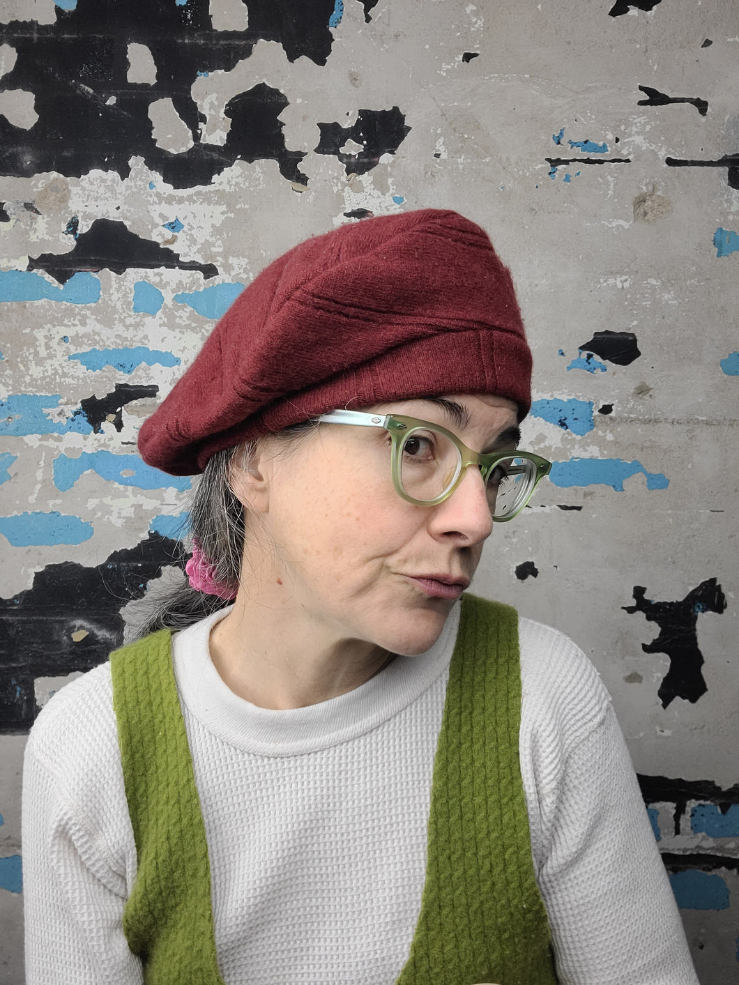 Upcycled Cashmere Beret