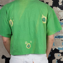 Load image into Gallery viewer, Gumby bleached + hand drawn + cropped t-shirt