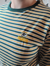 Load image into Gallery viewer, Packers Striped Long Sleeve Logo Tee