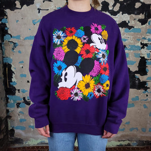 Mickey Mouse in Sea of Flowers - Mickey & Co sz L/XL